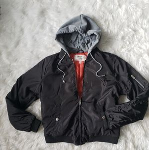 Jackets & Blazers - Flight jacket with hoodie